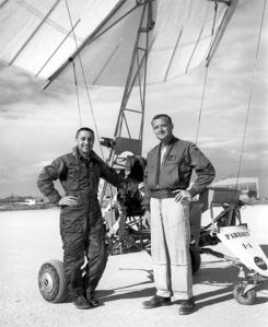 Gus Grissom (left) and Milton Thompson