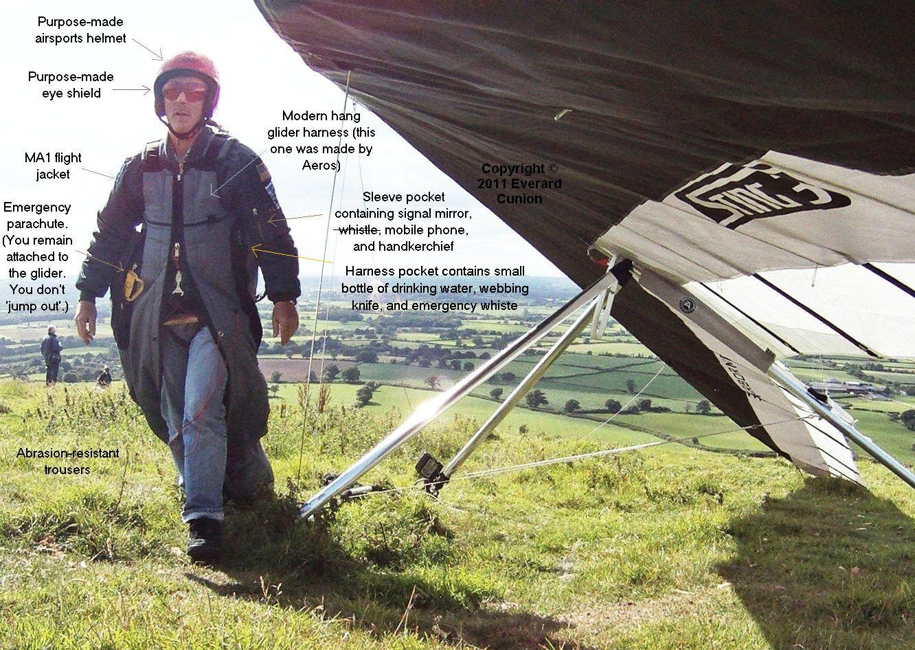 Hang gliding equipment | Everard Cunion's Articles and Images