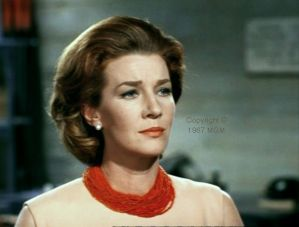 Lois Maxwell as Miss Moneypenny in Welcome to Japan...