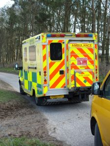 A ground ambulance turned up also