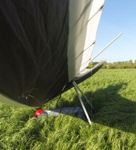 Hang glider sub-optimal landing