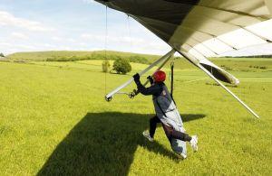 Hang glider landing photo