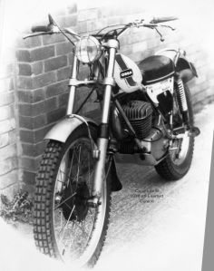 250cc Ossa in black and white
