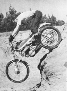 Sammy Miller on a Bultaco Sherpa in about 1971