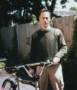 Everard with Huffy High Country mountain bike 1994