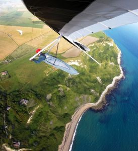 Air-to-air hang glider photo