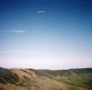 Hang glider at Kimmeridge, Dorset, England