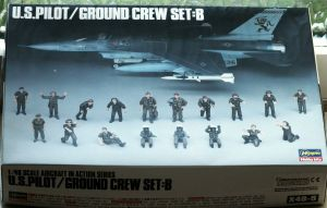 Hasegawa 1/48 scale US pilot and ground crew set B