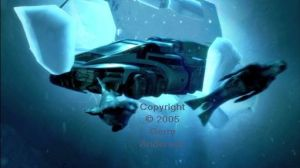 A rhino – the updated Spectrum Pursuit Vehicle -- falls through the ice in episode 4 of series 2