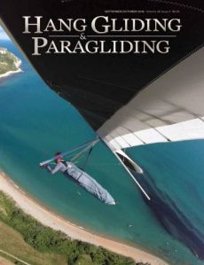 Hang Gliding & Paragliding magazine cover September-October 2016.