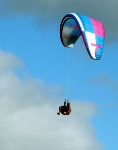 Paraglider at Monk's Down