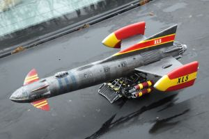 My Comet Miniatures 1/200th scale Fireball XL5 with scratch built launch trolley