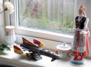 Fireball XL5 model with Barbie doll