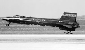 North American X-15 in about 1961 (NASA photo)