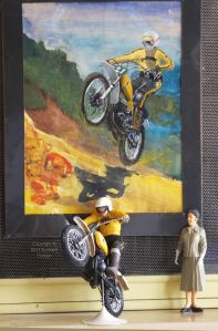 Twelfth scale Suzuki motocross bike and painting