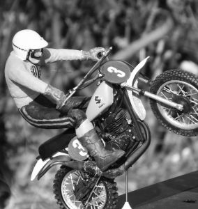 Twelfth scale motocross bike and rider