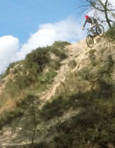 Mountain bike steep descent