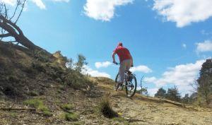 Mountain bike ascending in a low gear