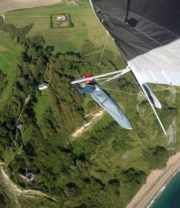 Hang gliding at Ringstead