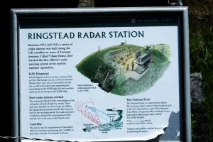 Close-up of the Ringstead radar room notice in 2017