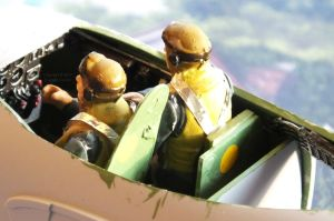 Crew of Airfix 1/24th scale De Havilland Mosquito