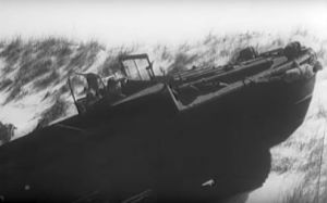 Dune climbing DUKW in World War 2