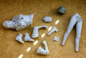 1/9 scale tank girl kit parts