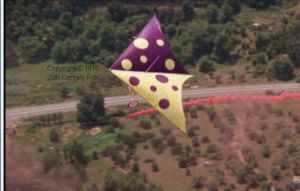 Polkadot sail Wills Wing Swallowtail hang glider