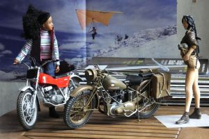 1/9th scale motorcycles and riders