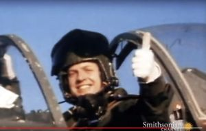 David Morgan in the cockpit (from the Smithsonian Channel video)