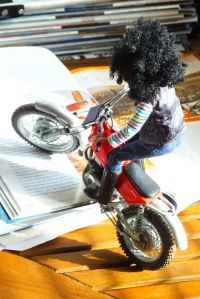 Protar 1/9th scale trials bike and Breyer rider doll