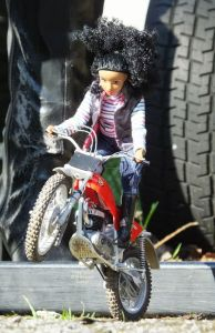Protar 1/9th scale Montesa Trials bike and doll