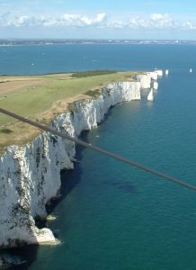 Swanage cliffs from Gary D's hang glider
