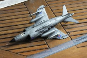 Underside of Kinetic 1/48th scale Sea Harrier FRS.1
