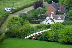 Mark of the Devon & Somerset Condors in his high performance rigid hang glider at Bell Hill