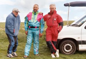 John A, 'ZZ', and Ron Smith at Bell Hill in 2005