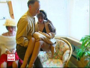 Everard carrying Rebecca Realdoll for a French documentary in 2006