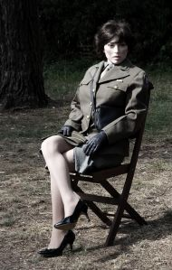Cynthia life-size doll in U.S. Women's Army Corps outfit