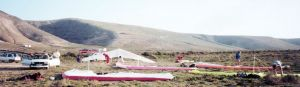 Hang glider landing zone at Famara, Lanzarote, in 1992