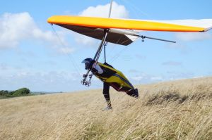Avian Rio 2 hang glider  launching
