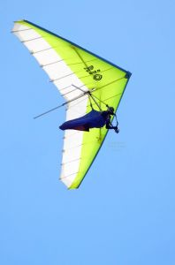 Avian Rio hang glider  in flight