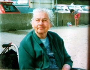 Everard's mother Kathleen at Avon Beach in June or July 1988