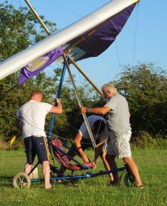 Rigging a flex-wing powered ultralight