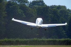 Ryan Navion take off at Newton Peveril