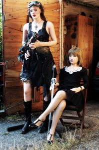 Steampunk life-size dolls