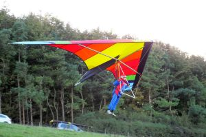 Superscorpion hang glider launching