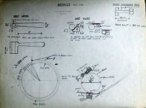 Early 1970s bike parts design by Everard Cunion