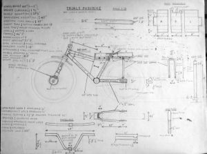 Early 1970s trials cycle design by Everard Cunion