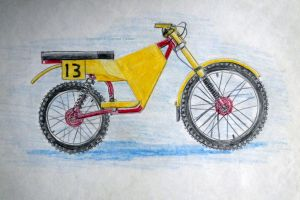 Early 1970s downhill bike design by Everard Cunion