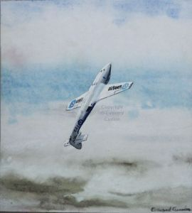 Painting of a Armstrong Whitworth Sea Hawk